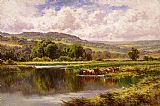 The River Mole, Dorking Surrey by Henry H. Parker